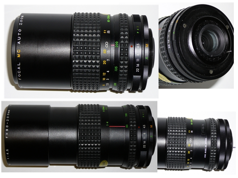 Focal MC Auto Zoom 1:4.5 f=80-200mm M42